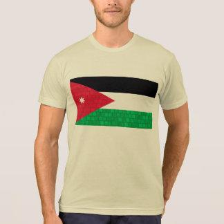 Modern Pattern Jordanian Flag T-Shirt