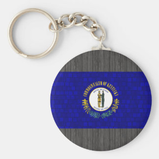 Modern Pattern Kentuckee Flag Key Chain