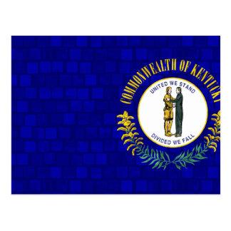 Modern Pattern Kentuckee Flag Postcard