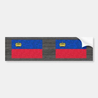 Modern Pattern Liechtensteiner Flag Bumper Sticker