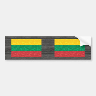 Modern Pattern Lithuanian Flag Bumper Stickers