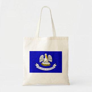 Modern Pattern Louisianan Flag Canvas Bag