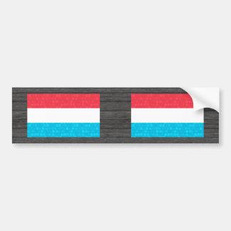 Modern Pattern Luxembourger Flag Bumper Stickers