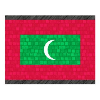 Modern Pattern Maldivan Flag Postcard