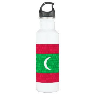 Modern Pattern Maldivan Flag Stainless Steel Water Bottle
