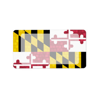 Modern Pattern Marylander Flag Custom Address Labels