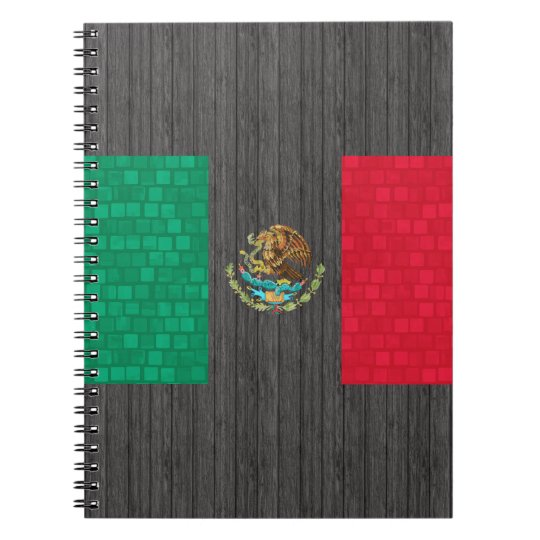 Modern Pattern Mexican Flag Notebook