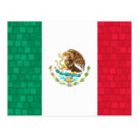 Modern Pattern Mexican Flag Postcard