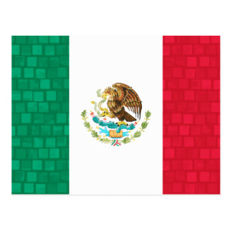 Modern Pattern Mexican Flag Postcard