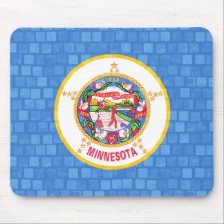 Modern Pattern Minnesotan Flag Mouse Pad