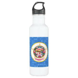 Modern Pattern Minnesotan Flag Stainless Steel Water Bottle