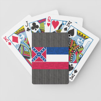 Modern Pattern Mississippian Flag Bicycle Playing Cards