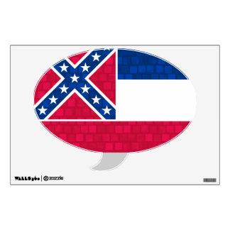 Modern Pattern Mississippian Flag Wall Sticker