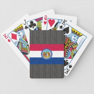 Modern Pattern Missourian Flag Bicycle Playing Cards