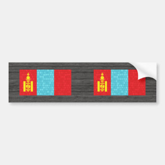 Modern Pattern Mongolian Flag Bumper Stickers