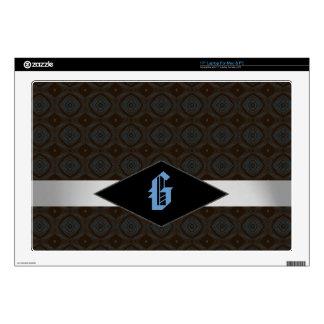 Modern Pattern Monogram Executive Laptop Skin