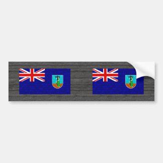Modern Pattern Montserratian Flag Bumper Sticker