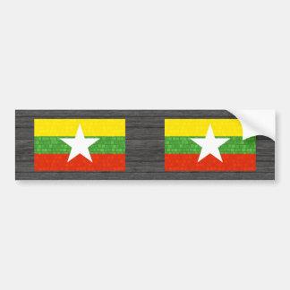 Modern Pattern Myanmarese Flag Bumper Stickers
