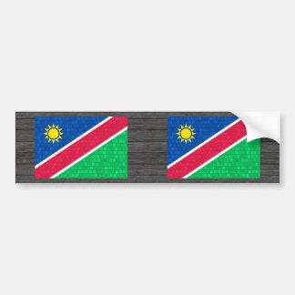 Modern Pattern Namibian Flag Bumper Stickers