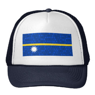 Modern Pattern Nauruan Flag Trucker Hat