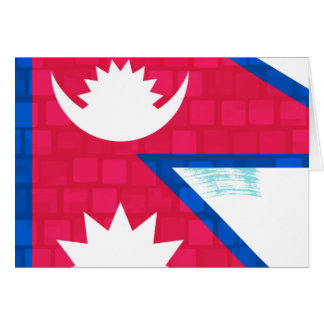 Modern Pattern Nepalese Flag Cards