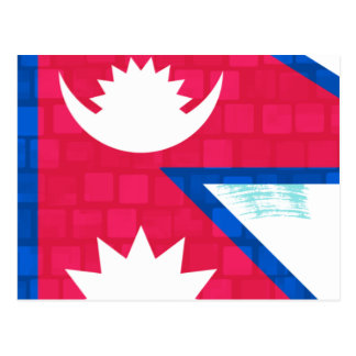 Modern Pattern Nepalese Flag Post Card