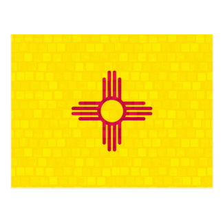 Modern Pattern New Mexican Flag Postcard