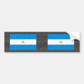 Modern Pattern Nicaraguan Flag Bumper Sticker