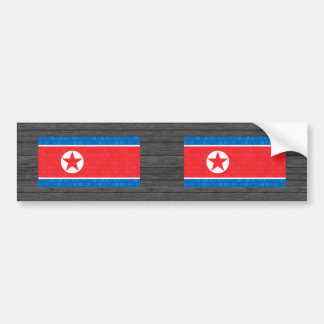 Modern Pattern North Korean Flag Bumper Stickers