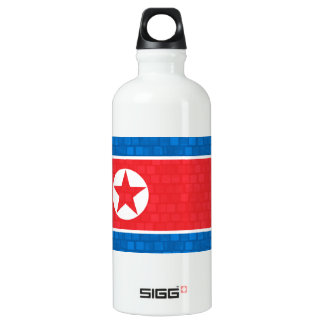 Modern Pattern North Korean Flag Water Bottle