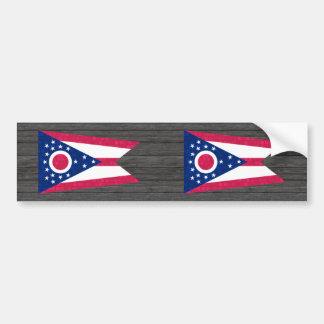 Modern Pattern Ohioan Flag Bumper Stickers