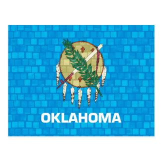 Modern Pattern Oklahoman Flag Postcard
