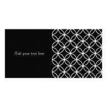 Modern Pattern Overlapping Circles Black White Card