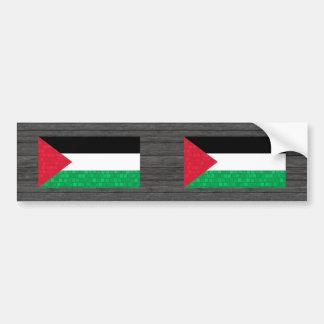Modern Pattern Palestinian Flag Bumper Stickers