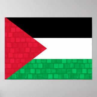 Modern Pattern Palestinian Flag Poster