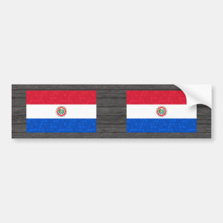 Modern Pattern Paraguayan Flag Bumper Stickers