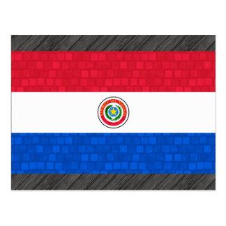 Modern Pattern Paraguayan Flag Postcard