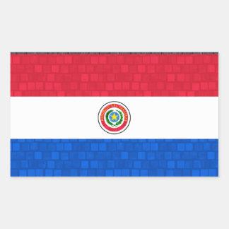 Modern Pattern Paraguayan Flag Rectangular Sticker