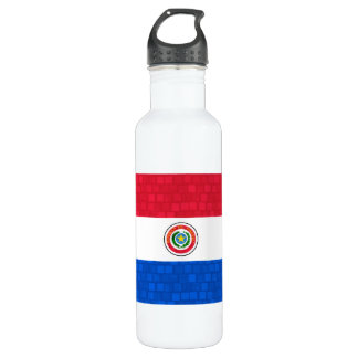 Modern Pattern Paraguayan Flag Water Bottle