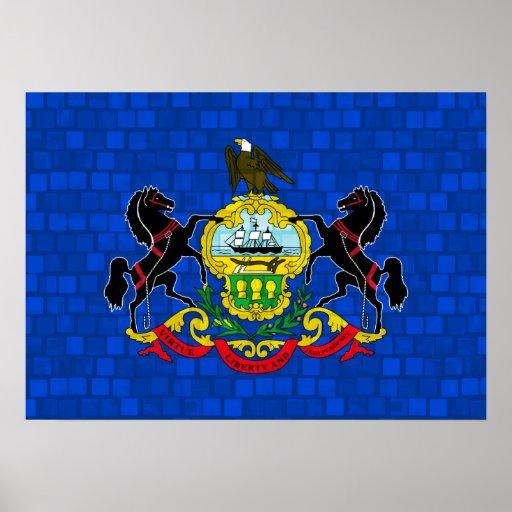 Modern Pattern Pennsylvanian Flag Poster
