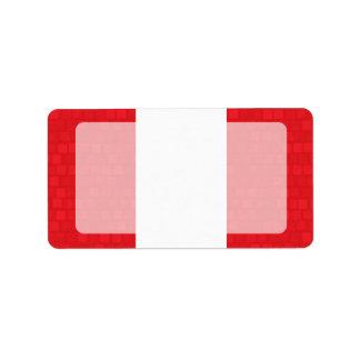 Modern Pattern Peruvian Flag Label