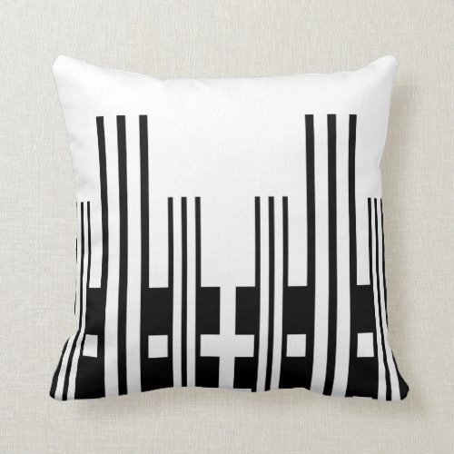 Modern Pattern Pillow-Home Decor-Black/White Throw Pillow