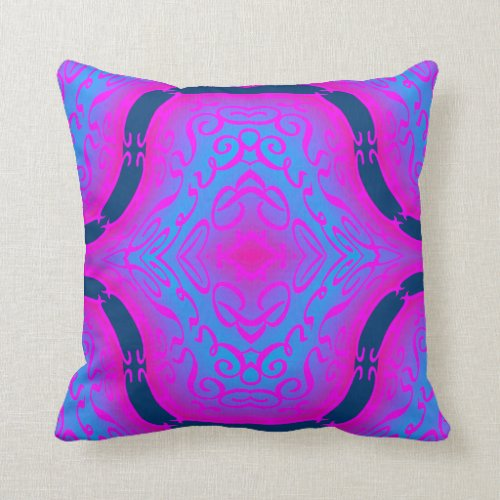 Modern  Pattern Pillow-Home- Pink/Navy Blue/Aqua Throw Pillow