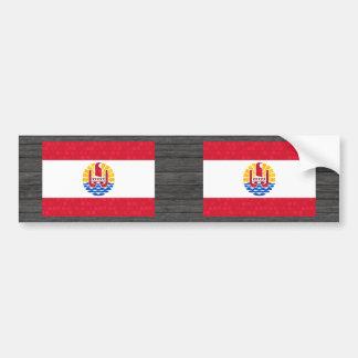 Modern Pattern Polynesian Flag Bumper Sticker