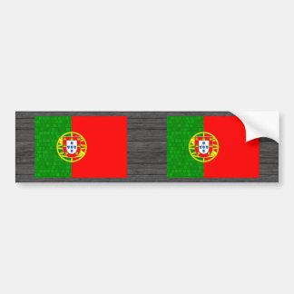 Modern Pattern Portuguese Flag Bumper Sticker