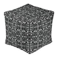 Modern Pattern Pouf-Home Decor-Black/Gray Pouf