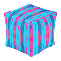 Modern Pattern Pouf-Home -Pink/Blue/Aqua Pouf