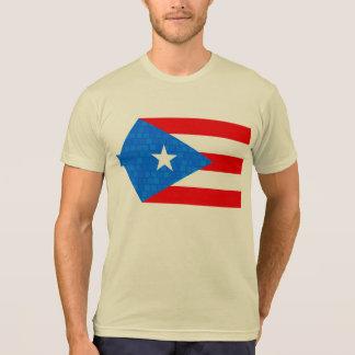 Modern Pattern Puerto Rican Flag Tee Shirt