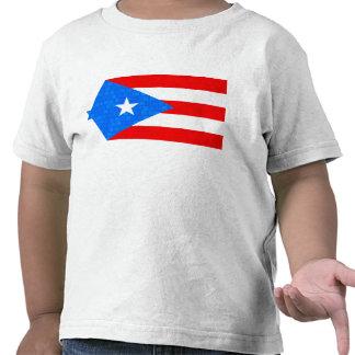 Modern Pattern Puerto Rican Flag Shirt