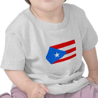 Modern Pattern Puerto Rican Flag T Shirt